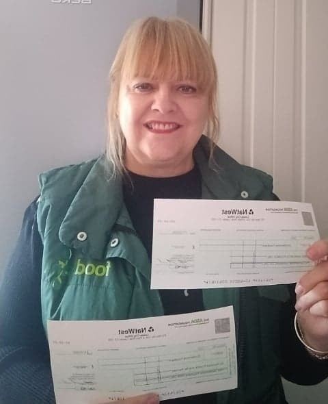 Fantastic grant cheques | Asda St Leonards