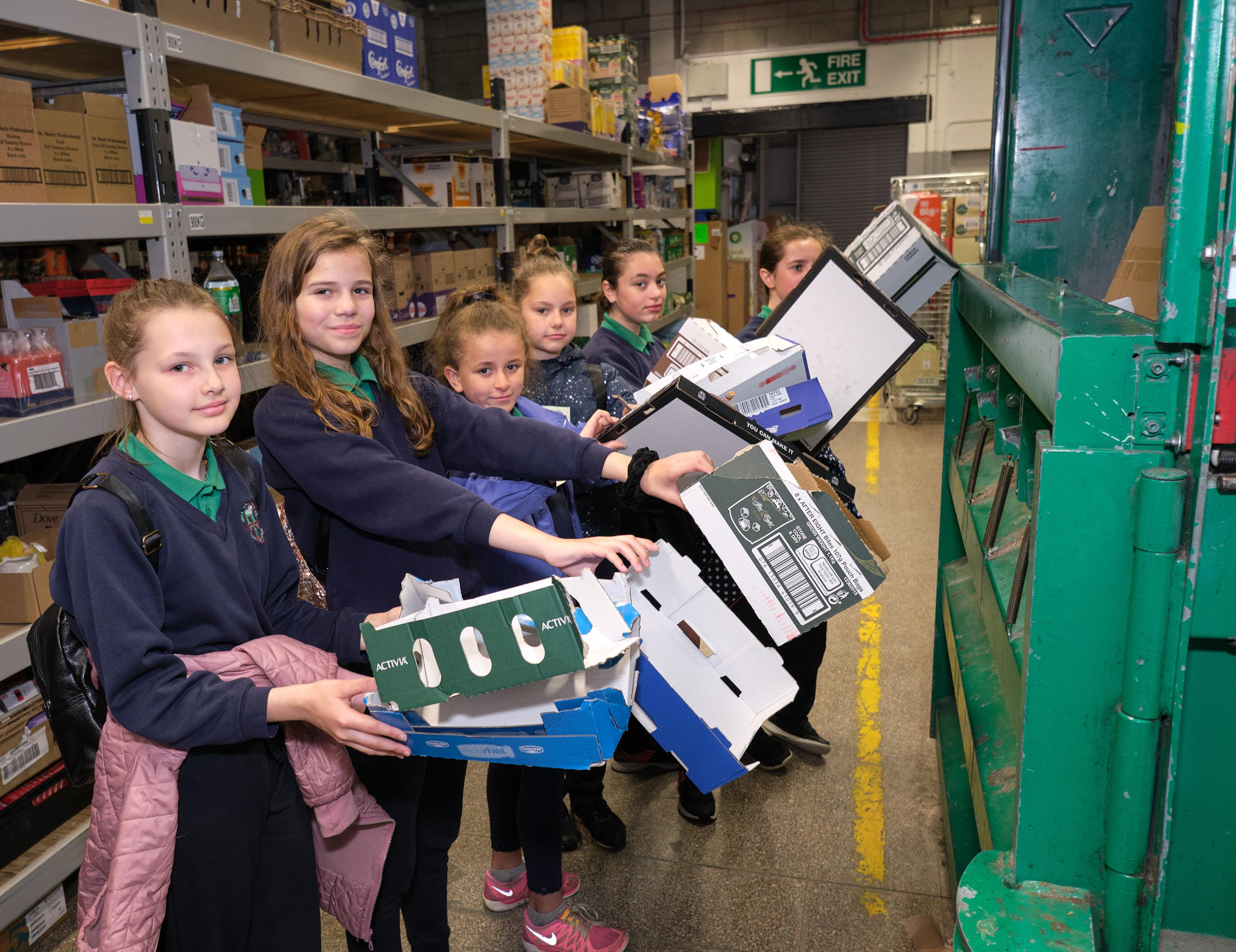 Pupils from Holy Trinity Primary School became plastic investigators for the day at Asda Cookstown