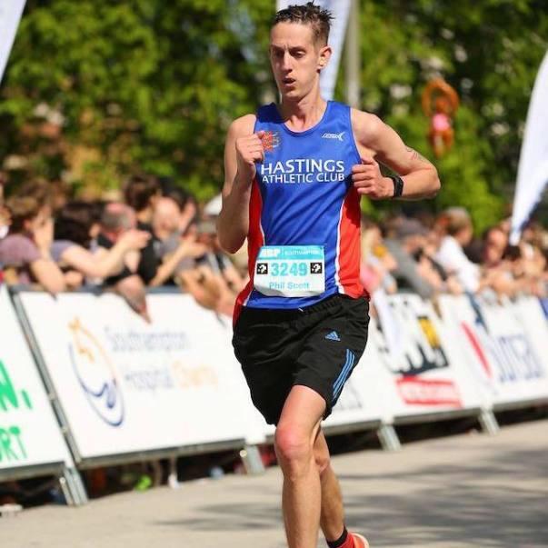 Asda colleague and marathon runner Phil Scott