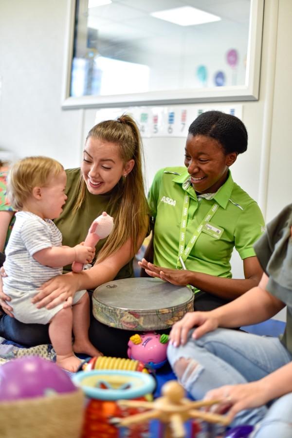 Sarah John from Asda Killingbeck sees how Children in Need is helping Leeds Mencap