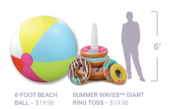 Beach Ball and Ring Toss