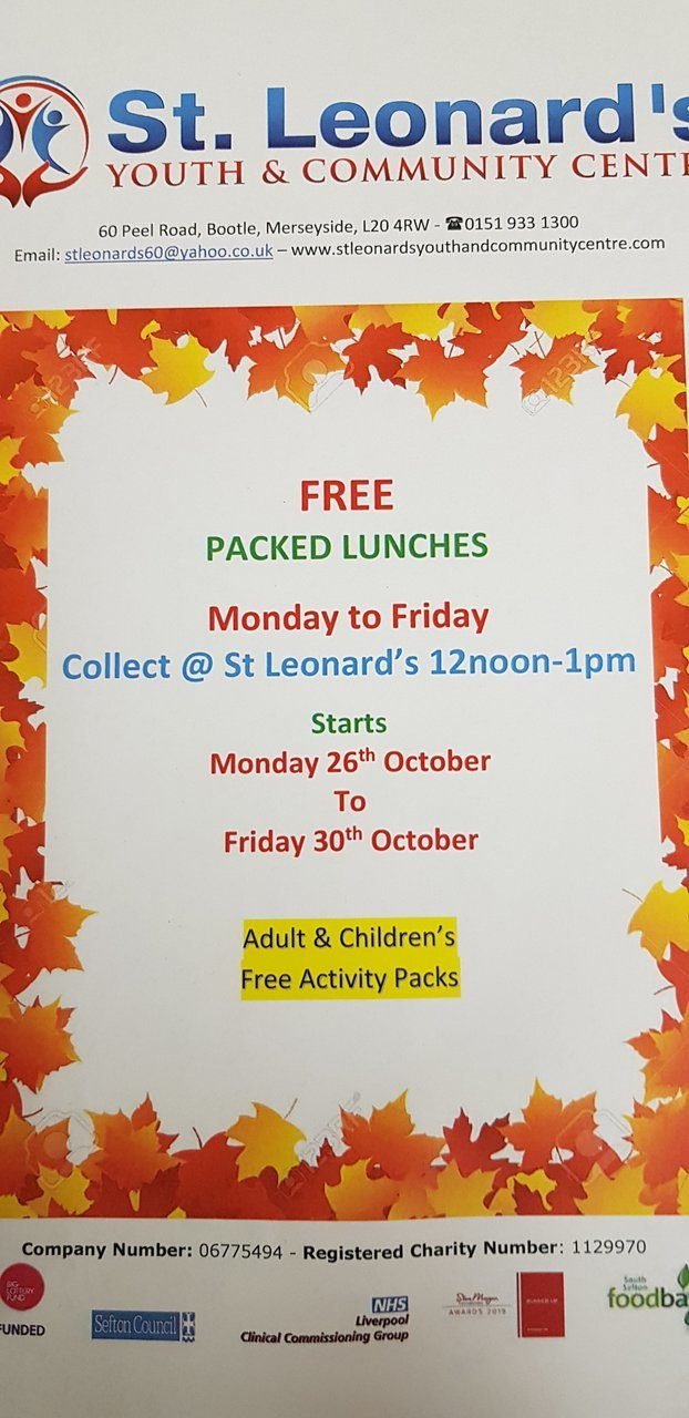 Half-term packed lunches  | Asda Bootle