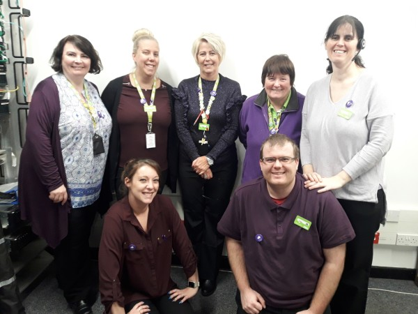Supporting Purple Tuesday at Asda Ashford