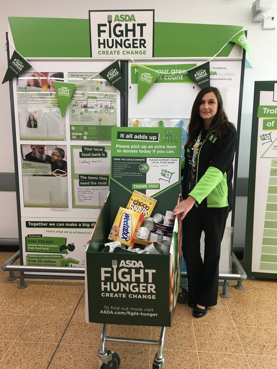 Supporting Fight Hunger Create Change  | Asda Longwell Green