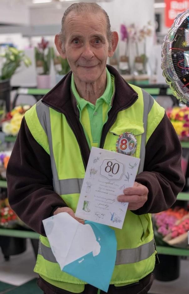Belvedere porter Alan's 80th birthday