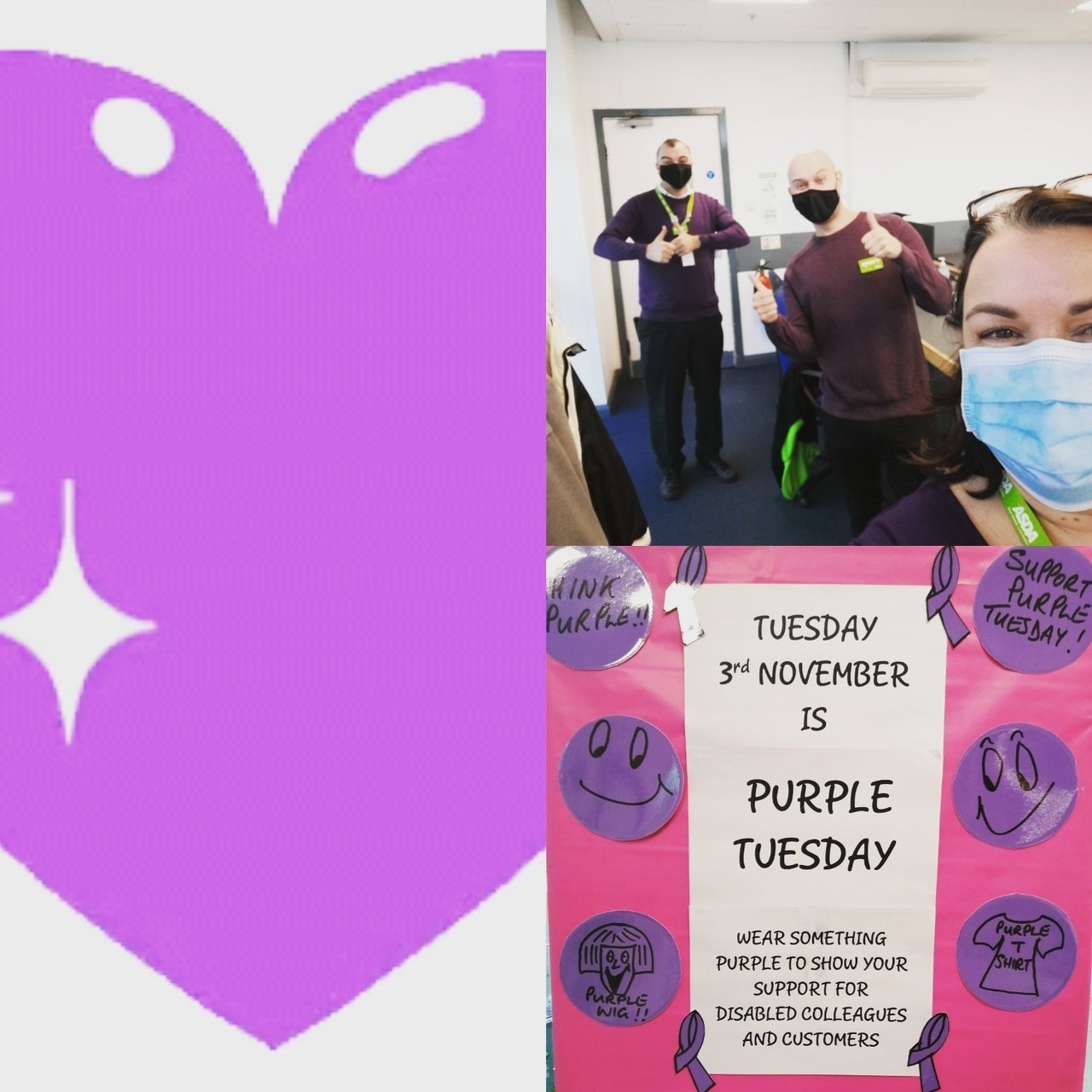 Clayton Green supporting Purple Tuesday  | Asda Clayton Green