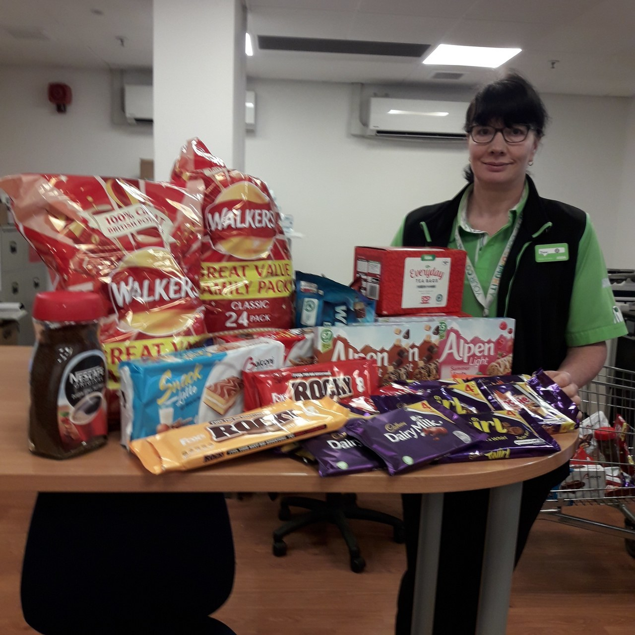Donation to Blackburn Royal Hospital  | Asda Colne