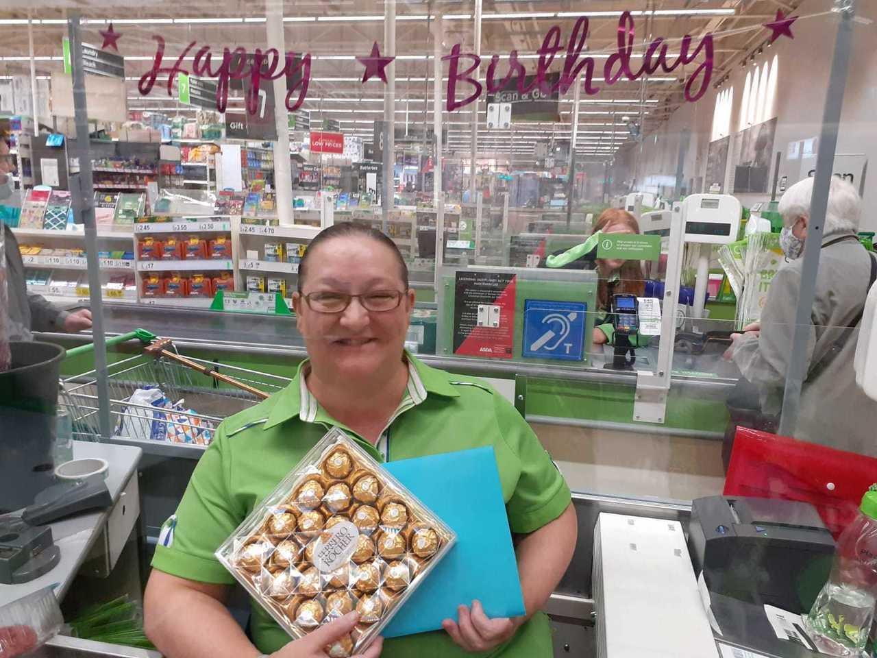 Birthday celebrations for Roseanne | Asda Blantyre