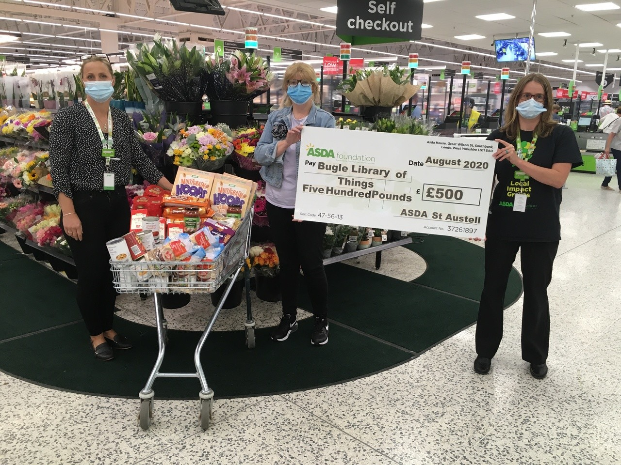 £500 grant to Bugle Library of Things | Asda St Austell