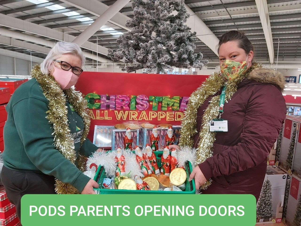 Goody bags forParents Opening Doors | Asda Donnington Wood