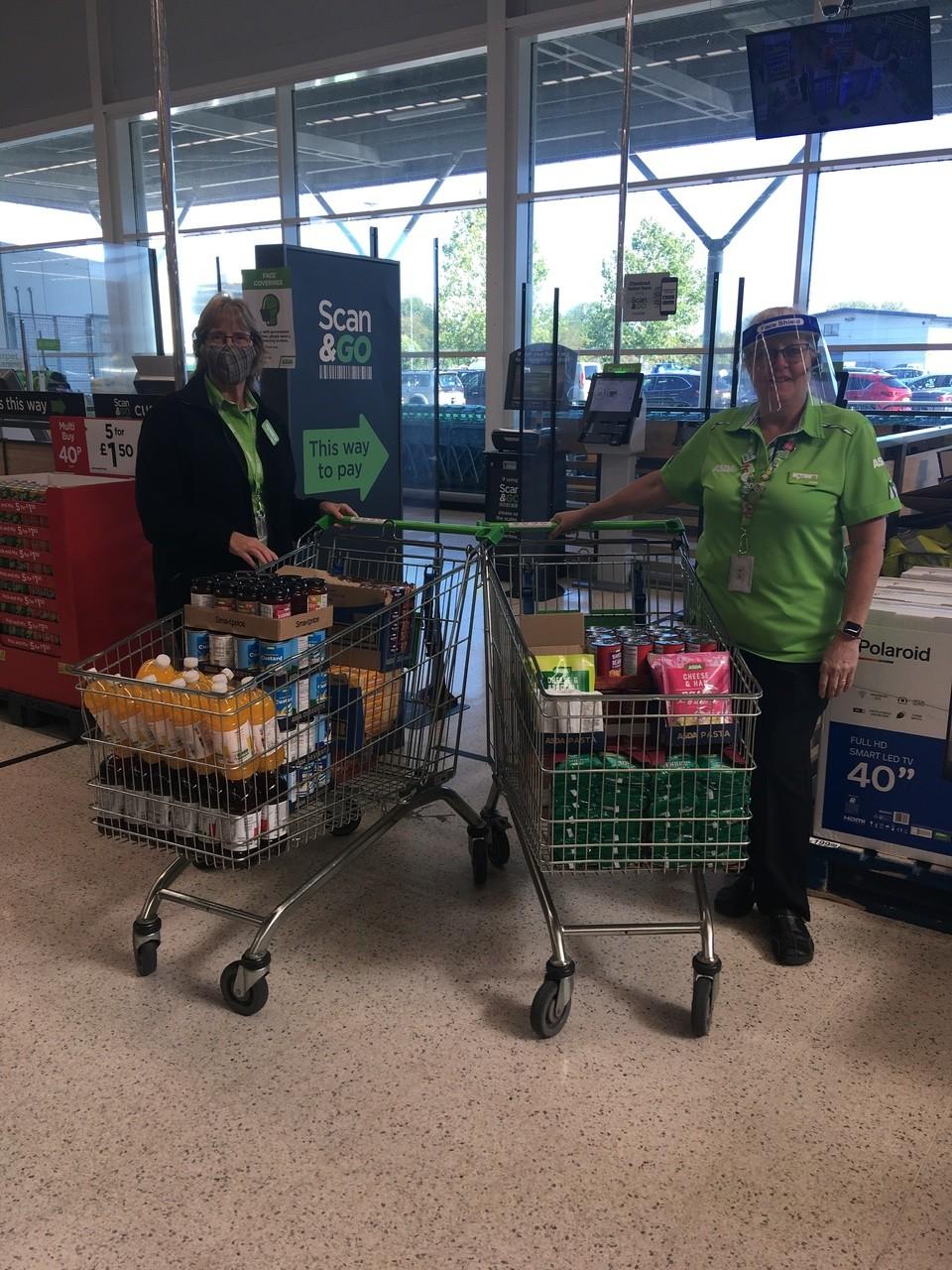 Donation to Melksham Foodbank | Asda Melksham
