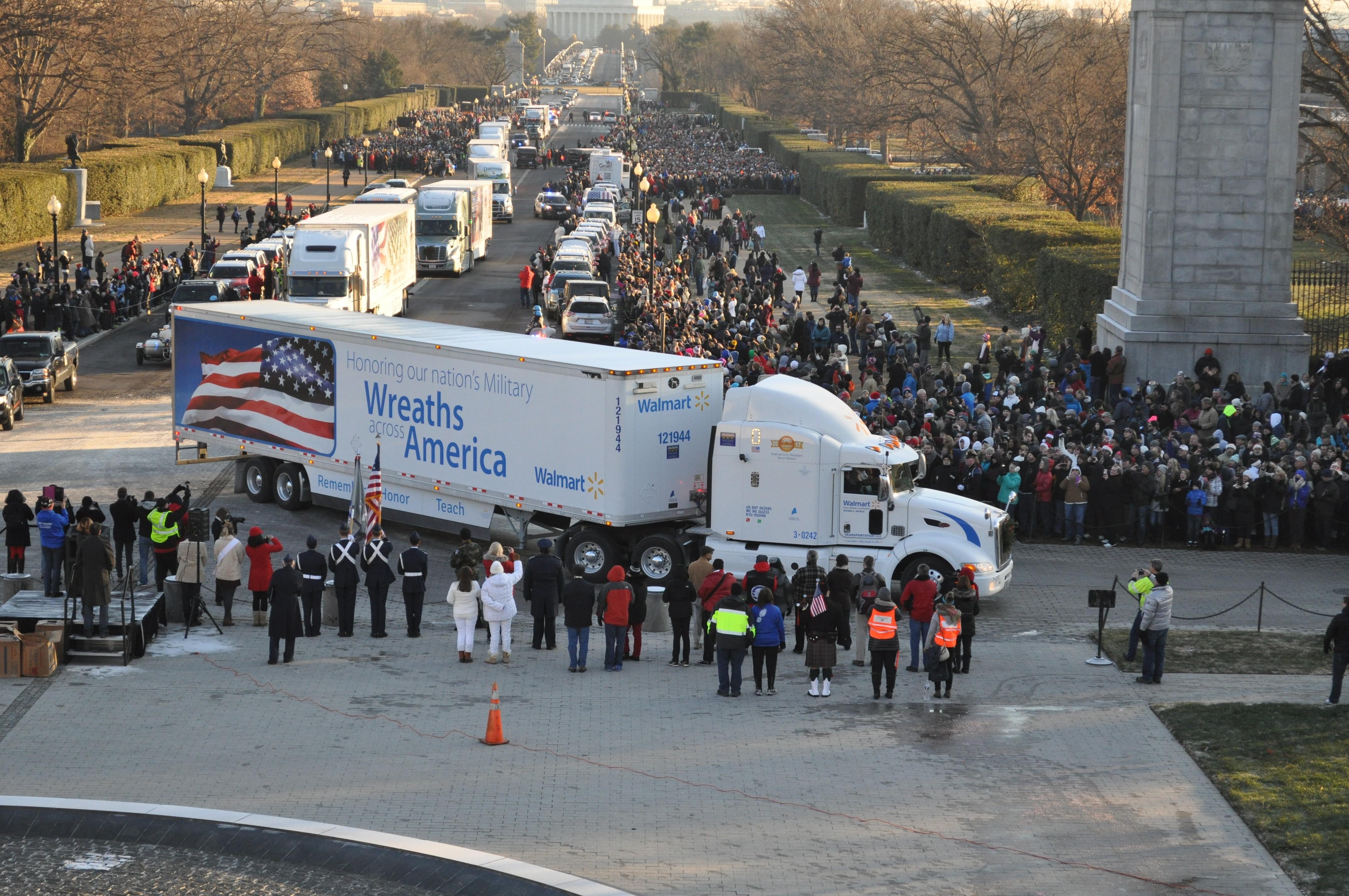 truck at Wreaths Across America