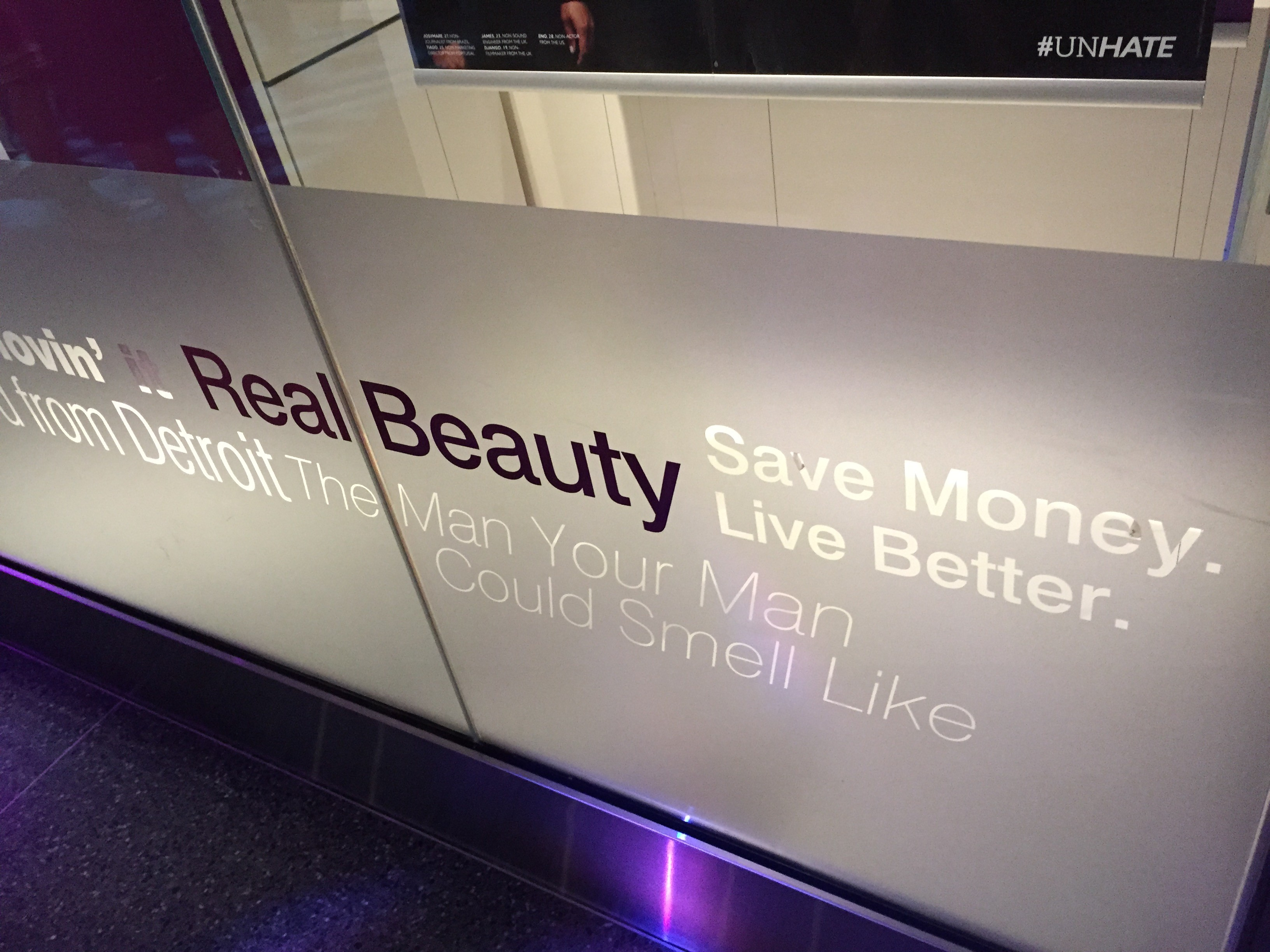 """""""Save Money. Live Better"""" slogan on display at the Smithsonian"""