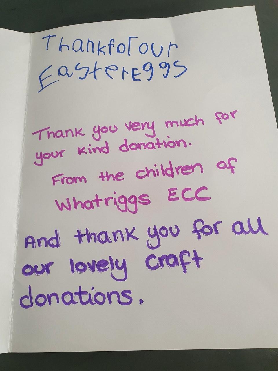 Thank you card | Asda Kilmarnock