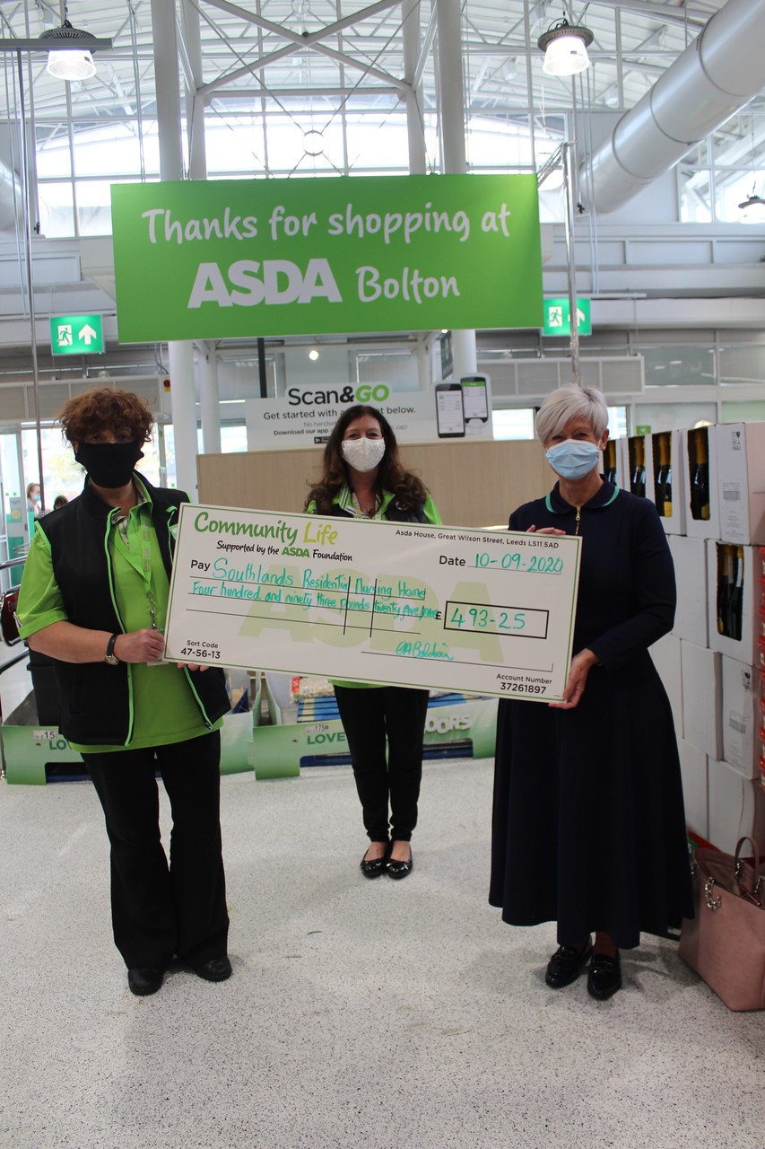Asda Foundation hygiene grant for Southlands Residential Home.   | Asda Bolton