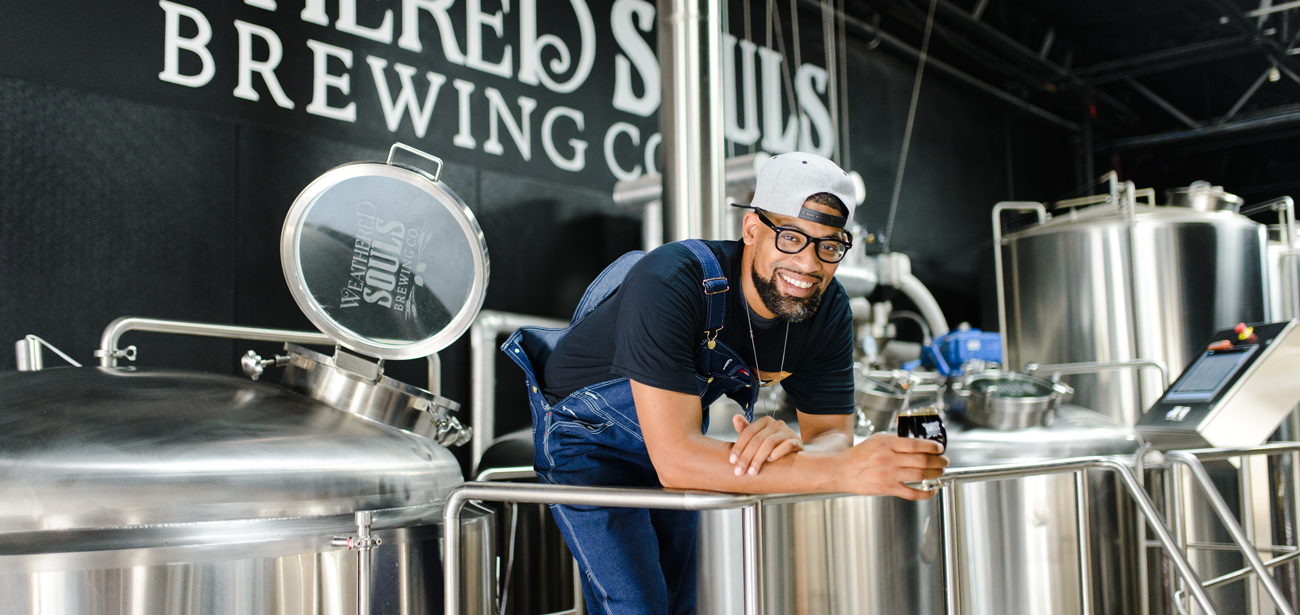 Marcus Baskerville, Weathered Souls Brewing head brewer and cofounder