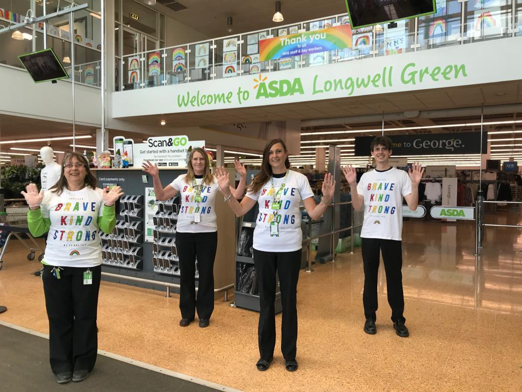We all love the NHS charities rainbow t shirts  | Asda Longwell Green
