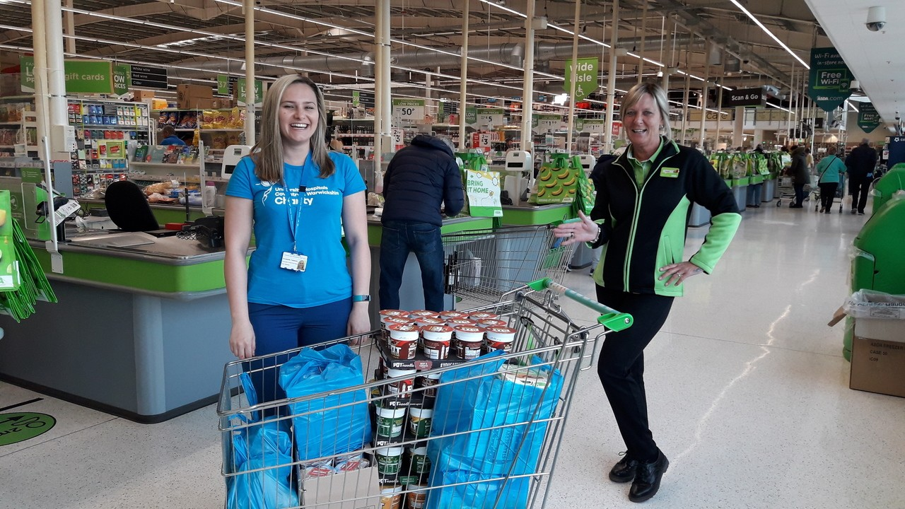 Food items for our NHS nurses care packages | Asda Coventry