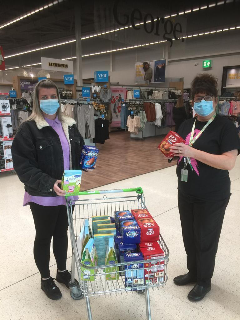 St Clements school receiving easter eggs for local children | Asda Dundee West