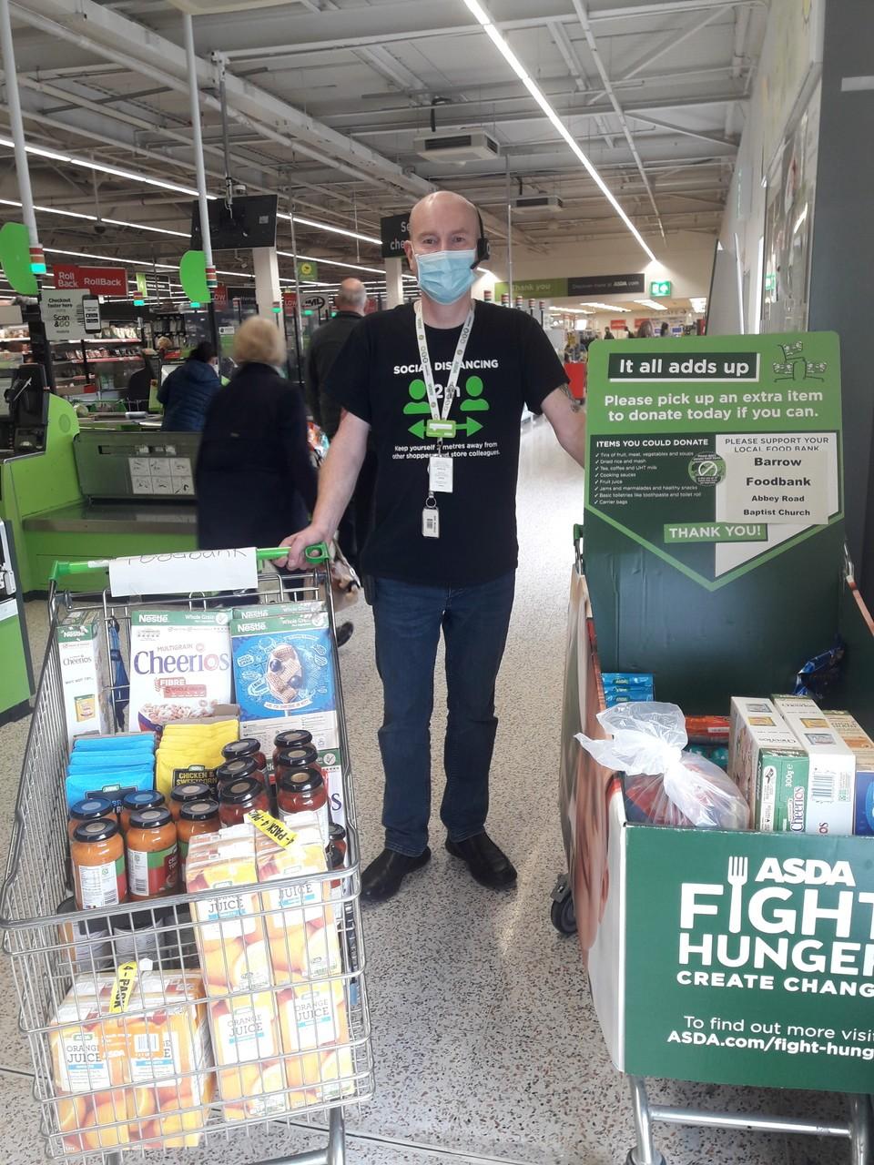 Store donates more vital supplies to Barrow Foodbank. | Asda Barrow