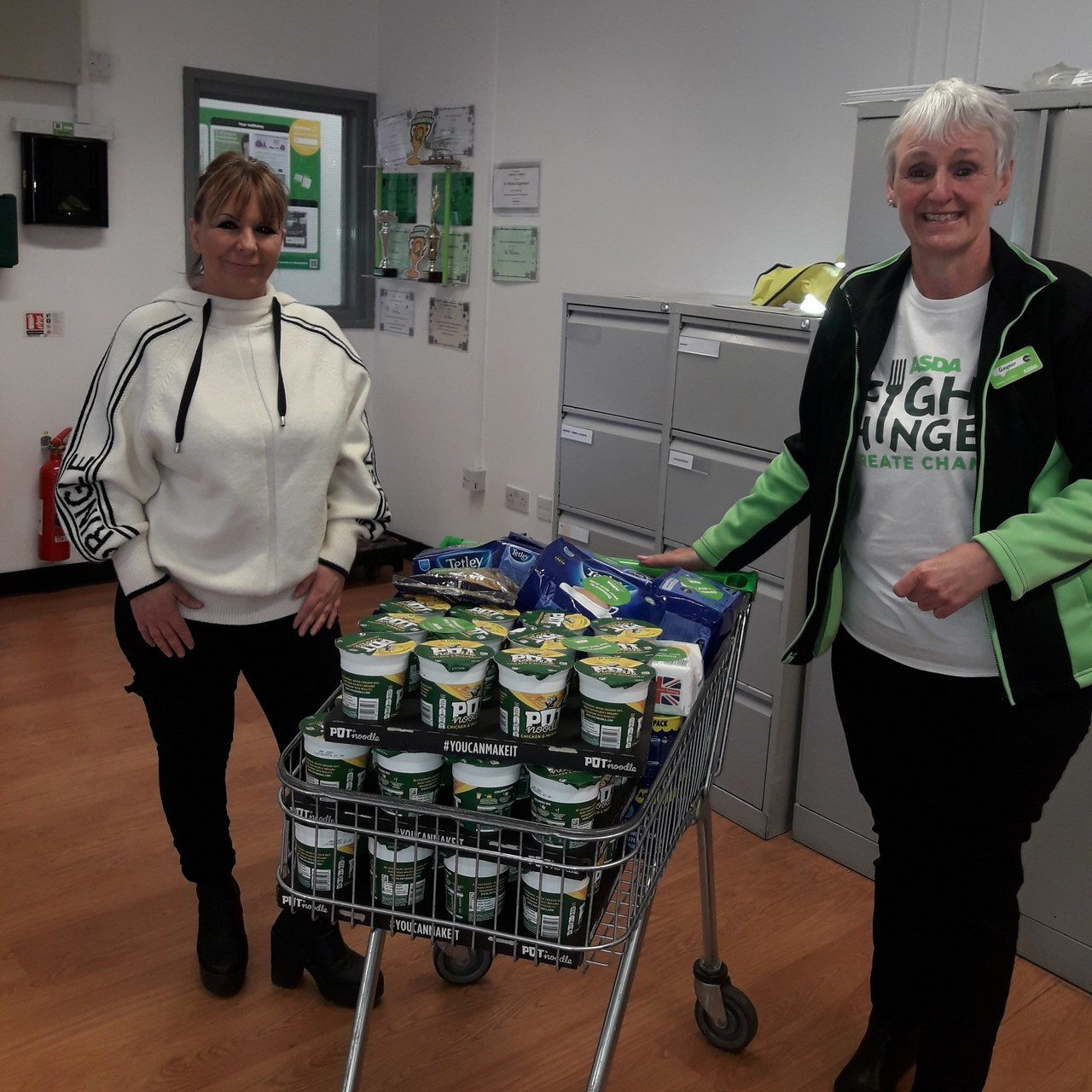 Donation of food to local Homeless charity | Asda St Helens