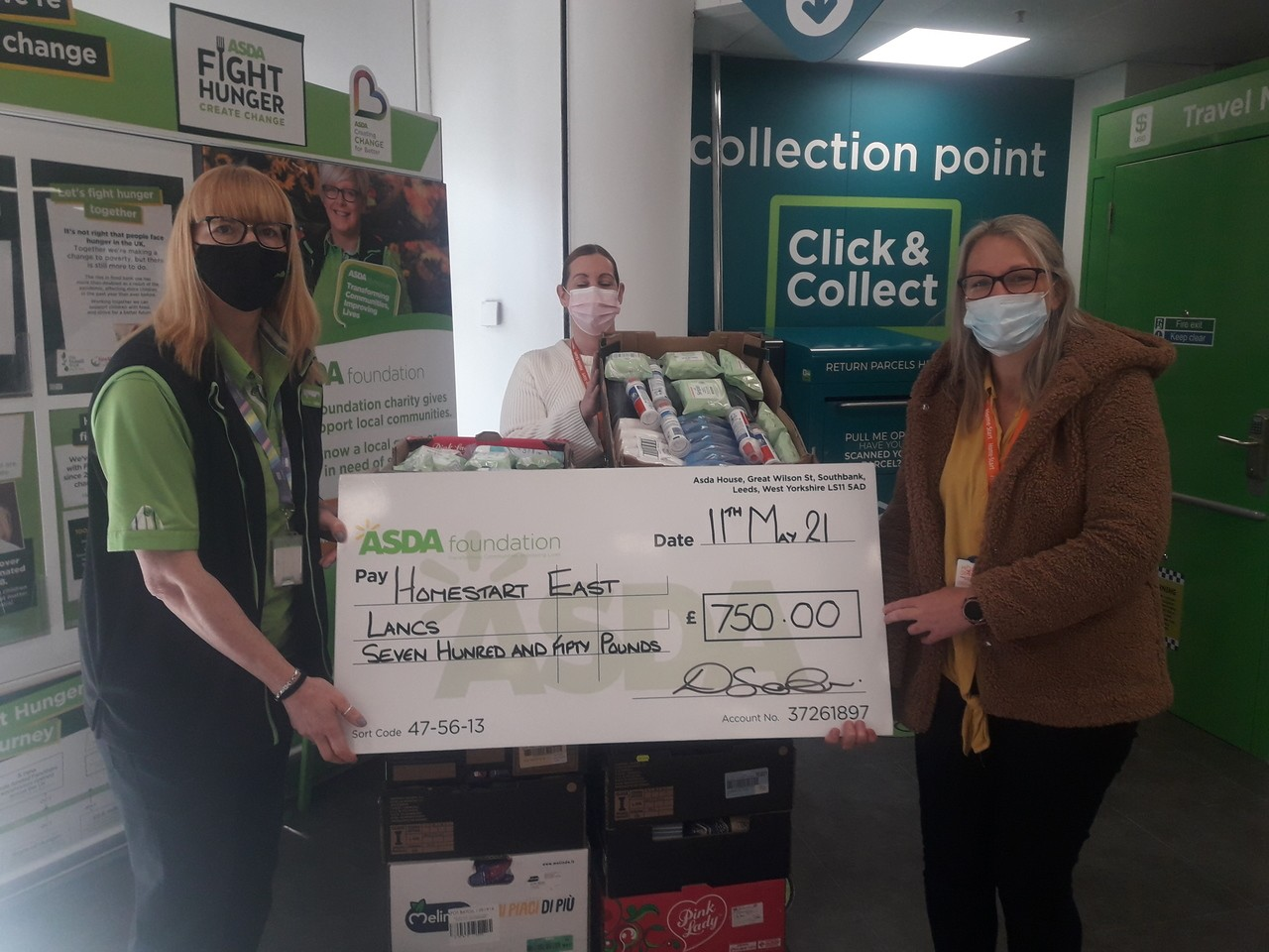 £750 to Homestart East Lancs | Asda Colne