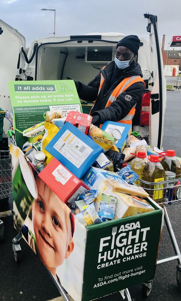 Food bank donation | Asda Leicester Abbey Lane