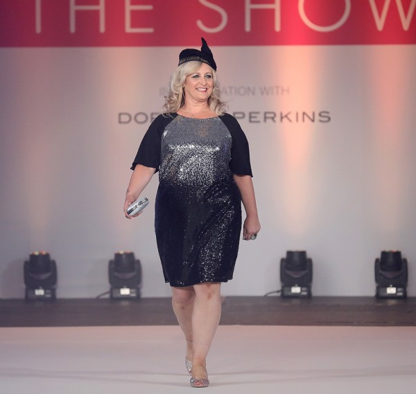 Asda Hull Living colleague Jacqui Johnson at the Breast Cancer Care Fashion Show