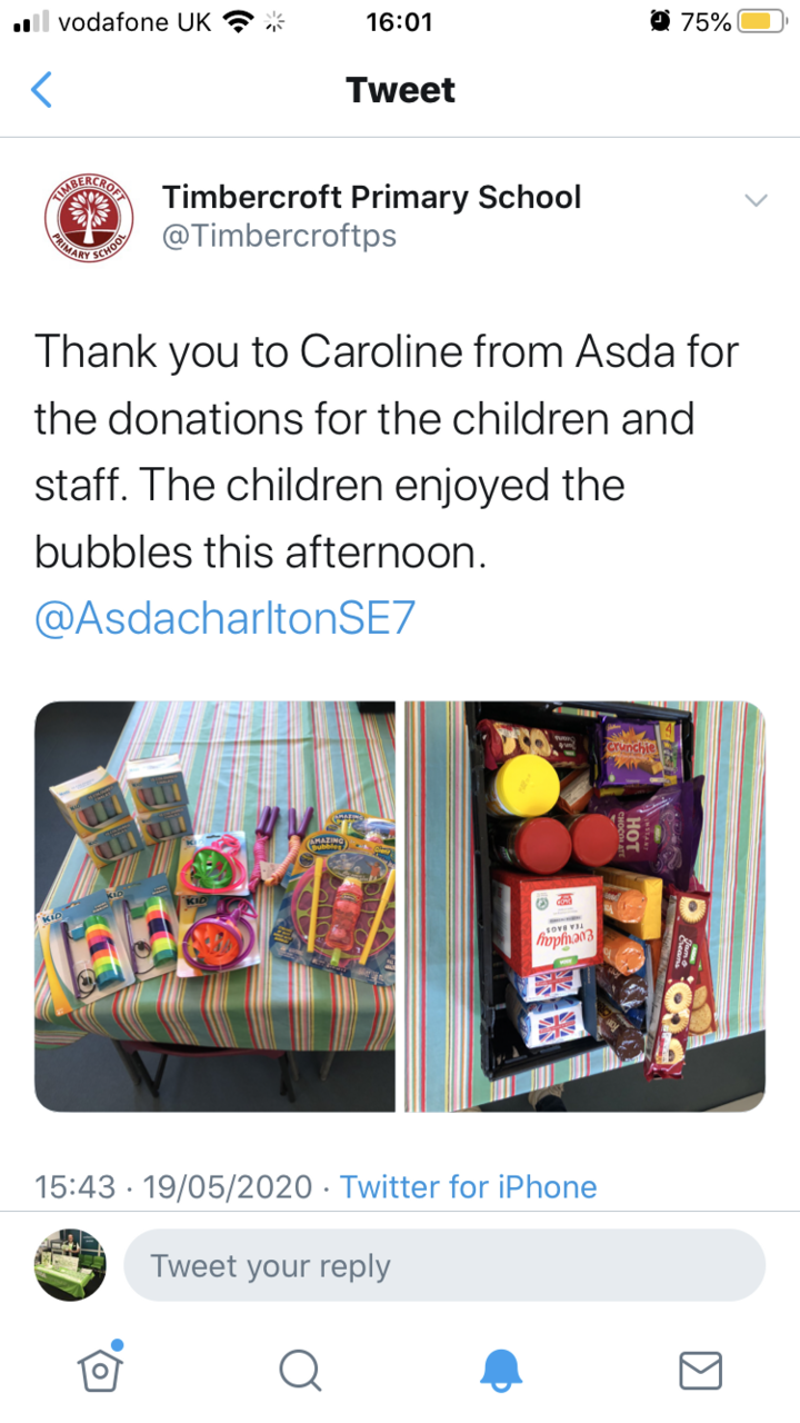 Supporting our schools supporting our keyworkers children.  | Asda Charlton