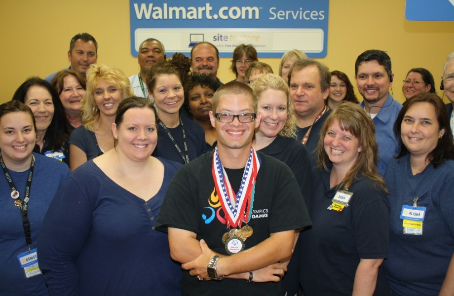 Jason Rupert and his Walmart team