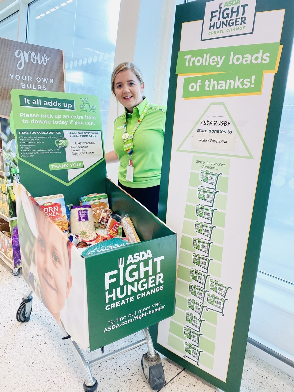 A phenomenal response to our Fight Hunger Create Change foodbank appeal | Asda Rugby
