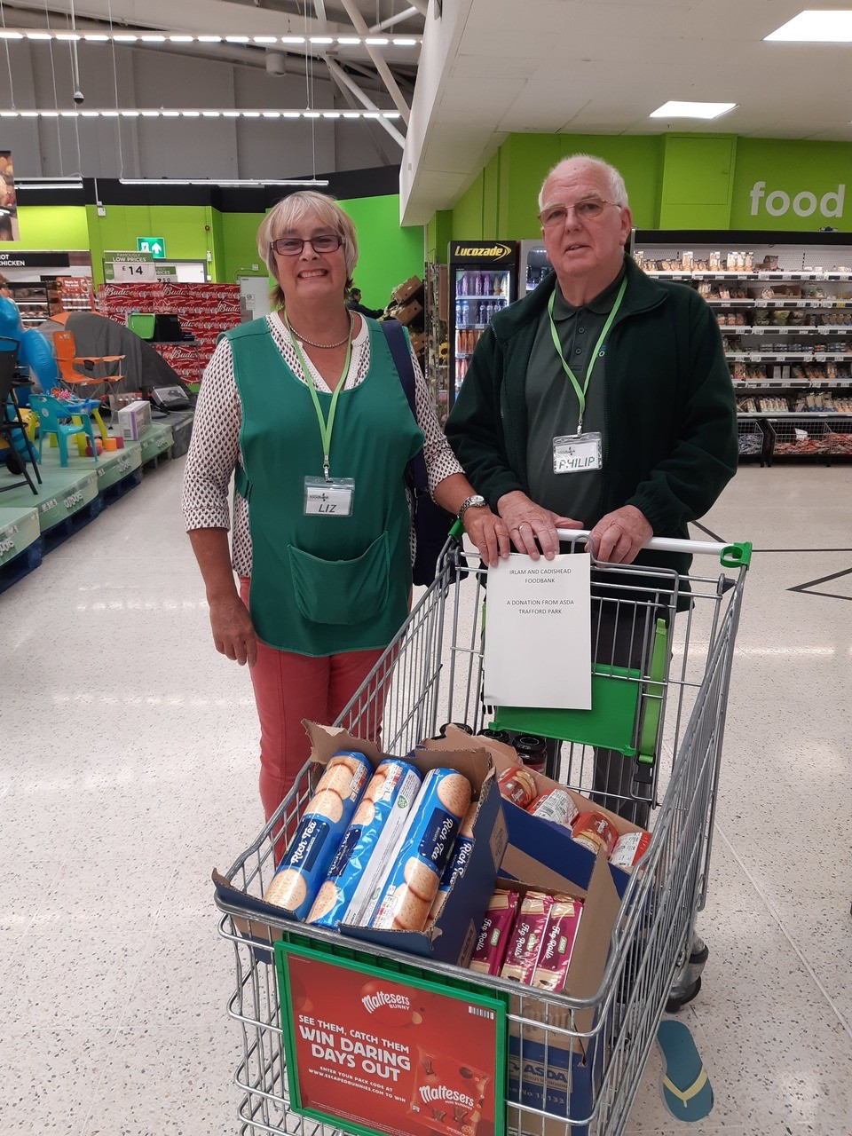 Irlam and cadishead foodbank picking up a food donation from Asda Trafford park. | Asda Trafford Park