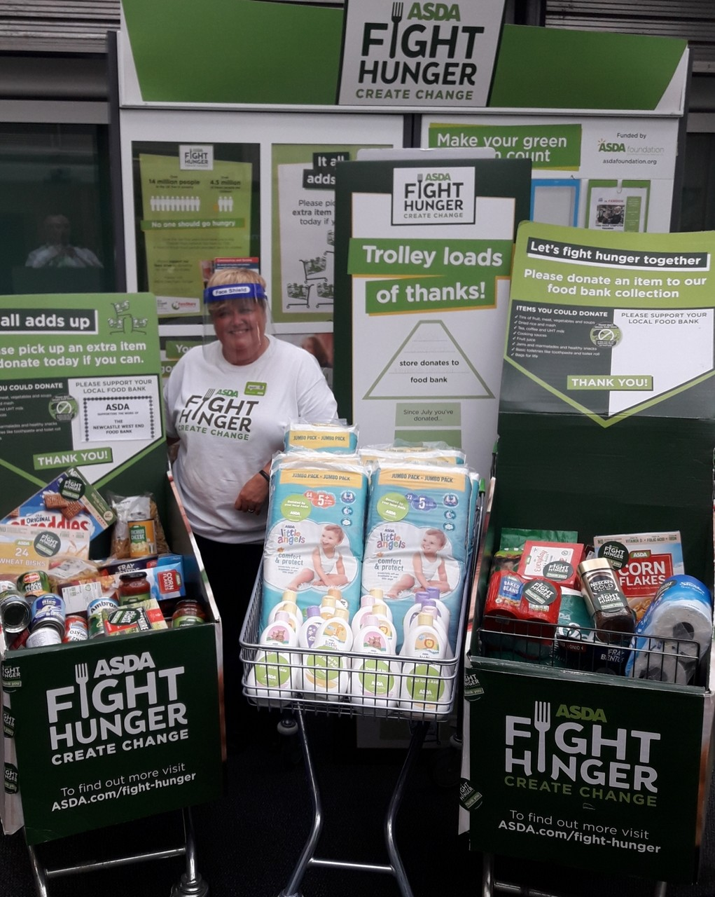 Supporting Newcastle West End Foodbank  | Asda Gosforth