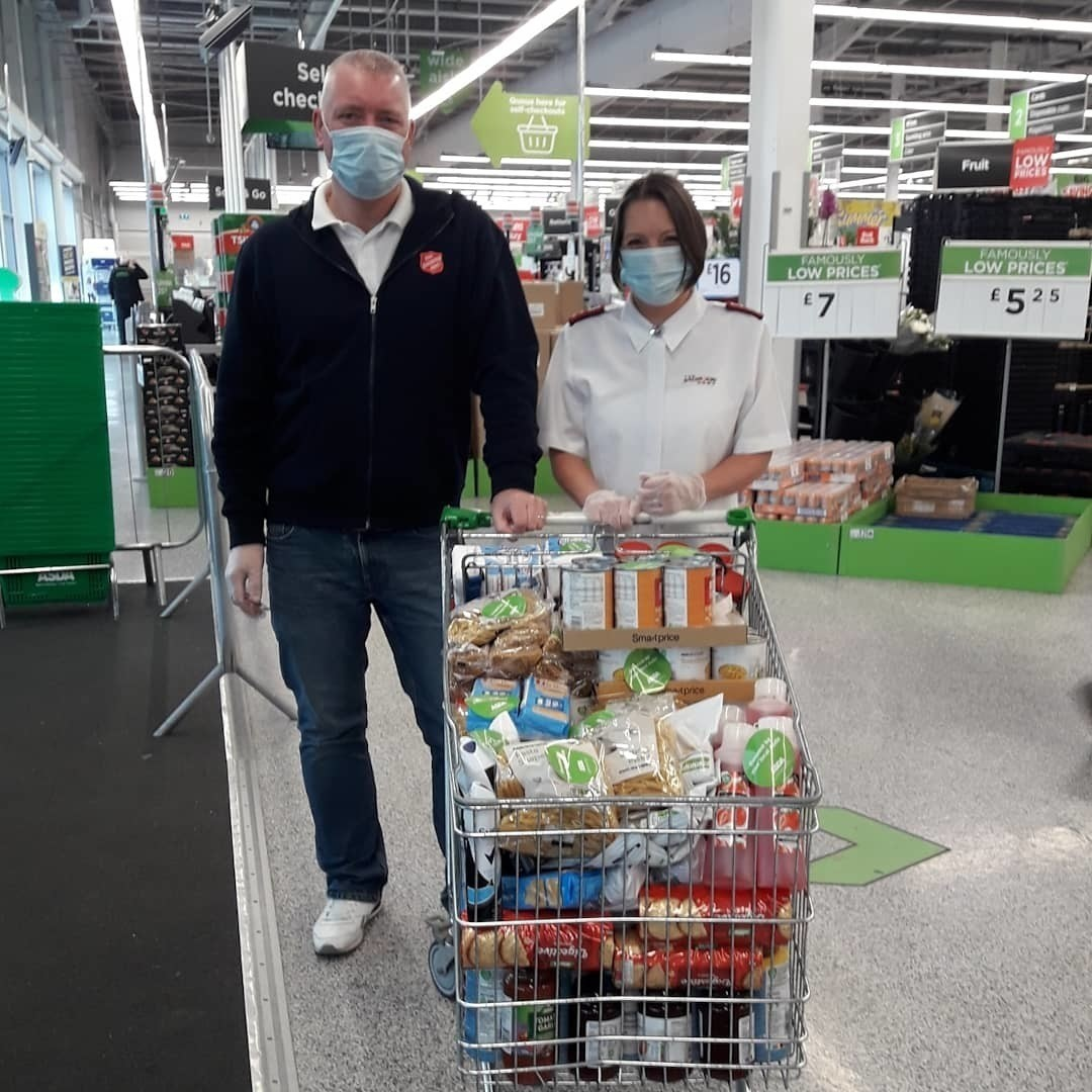 Food donation to the Salvation Army | Asda Reddish