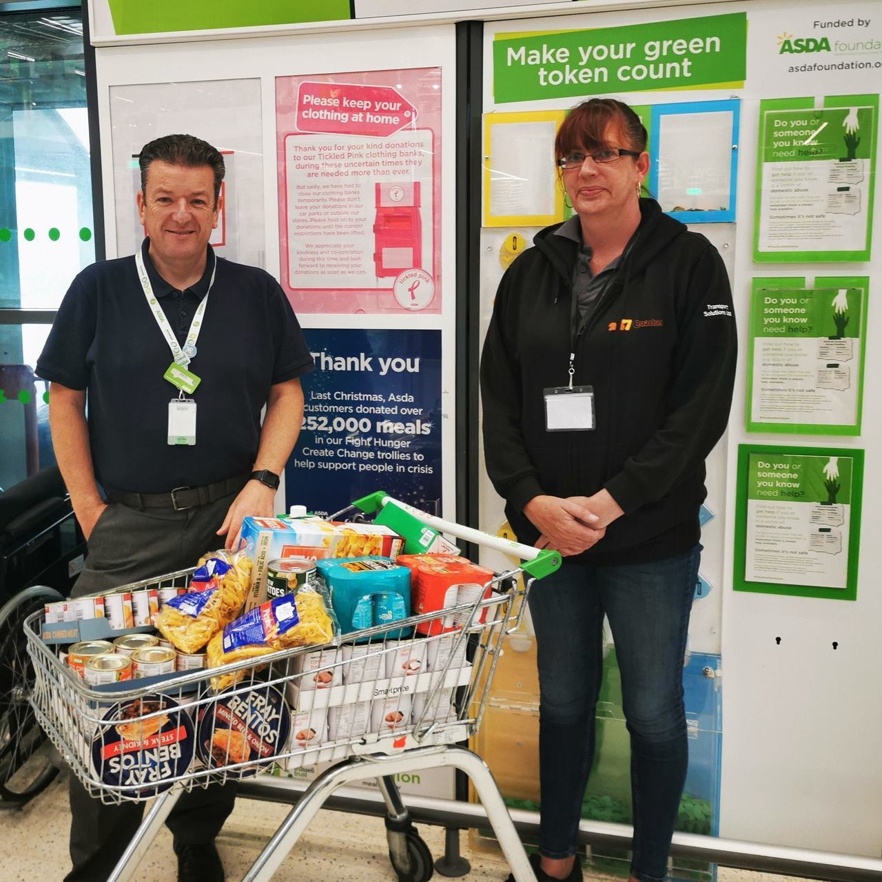 Donating to Hastings Foodbank  | Asda St Leonards on Sea