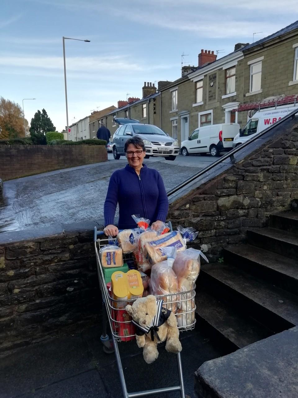 Accrington Asda colleague donates to the food bank | Asda Accrington