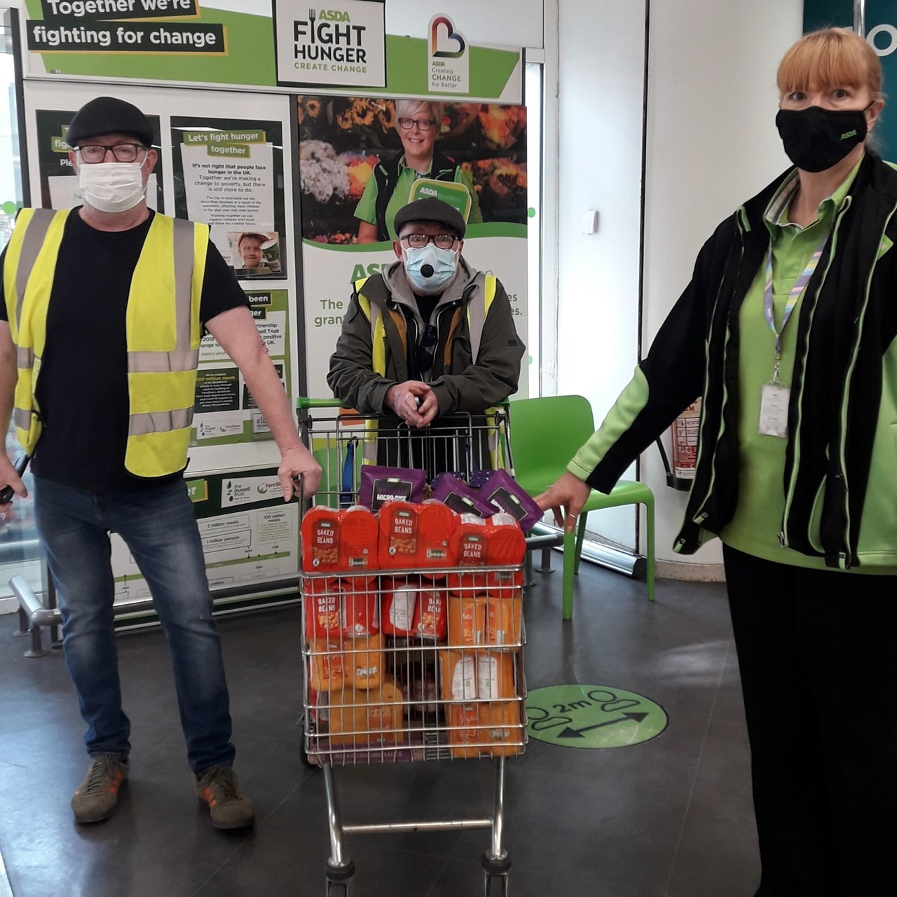 Donation of food items donated to a new group curry on the street feeding the homeless and vulnerable | Asda Colne