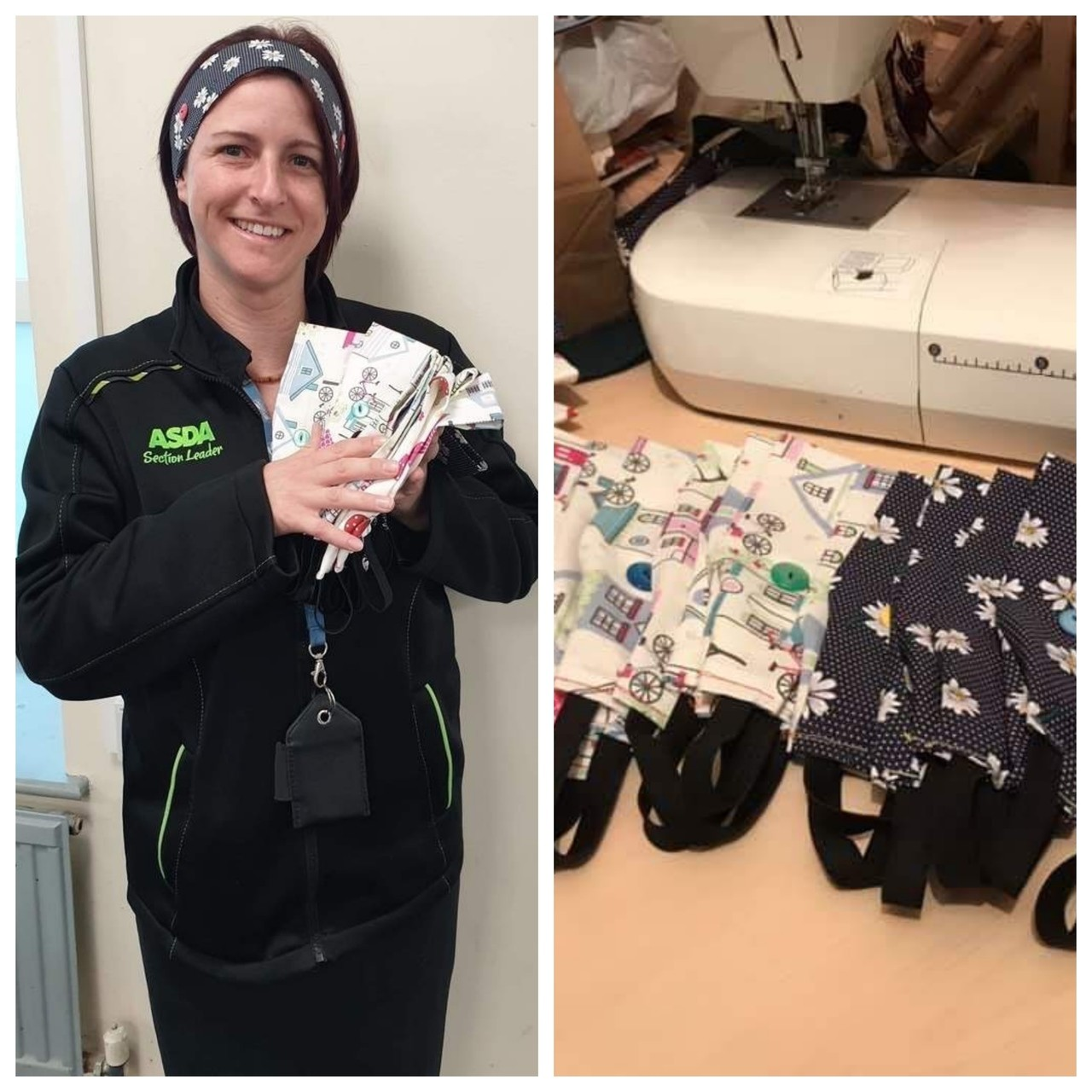 Becca makes support bands for NHS staff | Asda Eastbourne