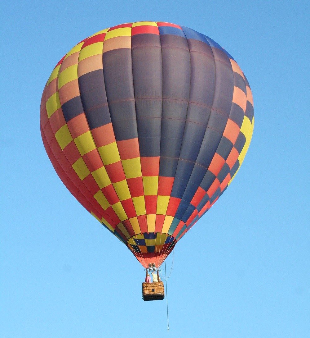 Hot air balloon in park
