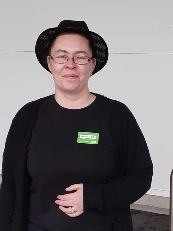 Asda Gorseinon cafe manager Amanda Hamil