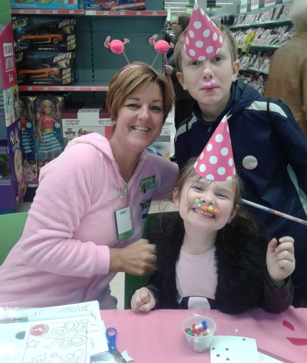 Tickled Pink at Asda Sutton in Ashfield with community champion Hayley Carrington