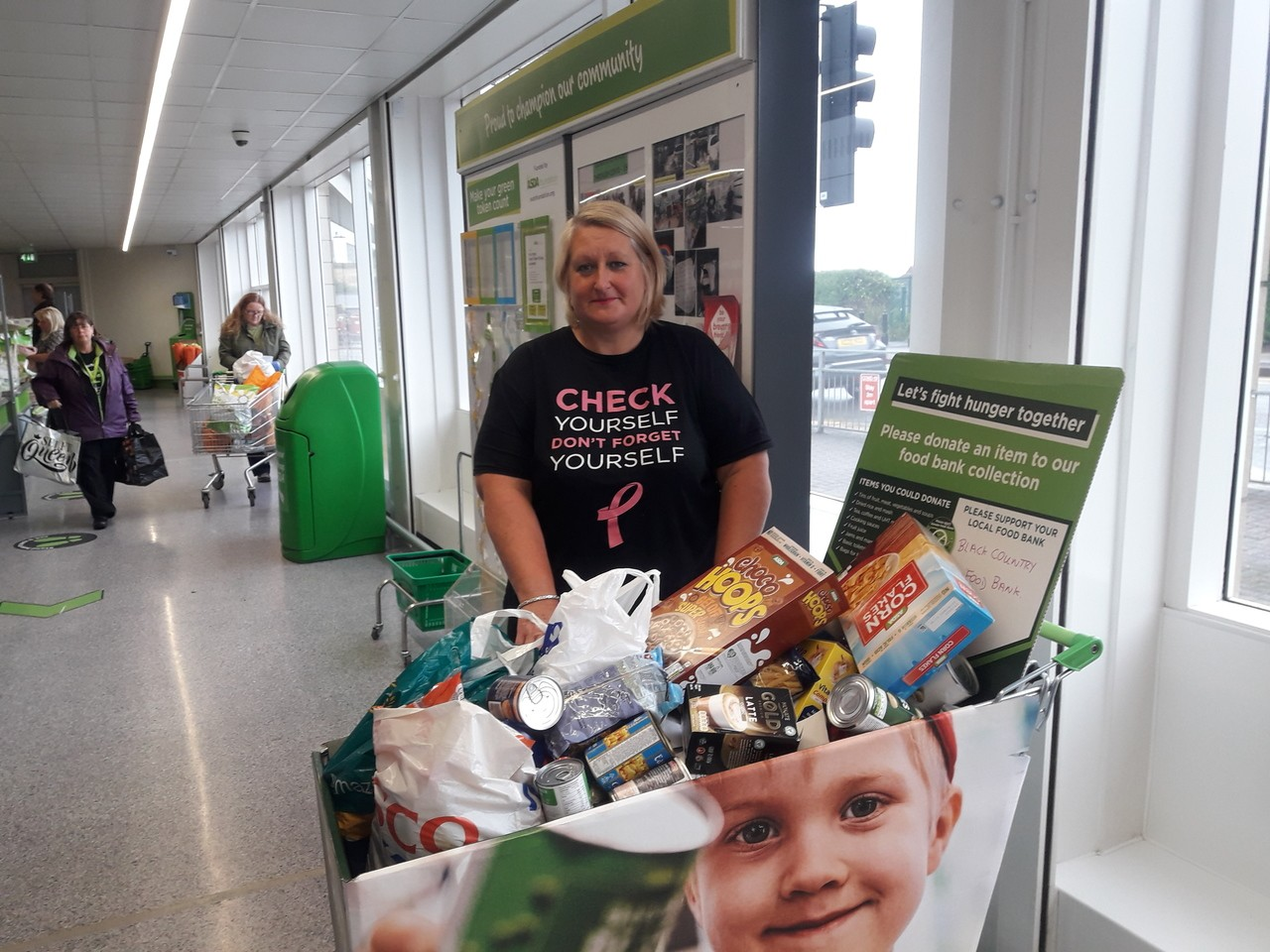 Donation to food bank | Asda Sedgley