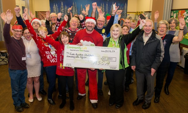 Kilmarnock cheque celebrations