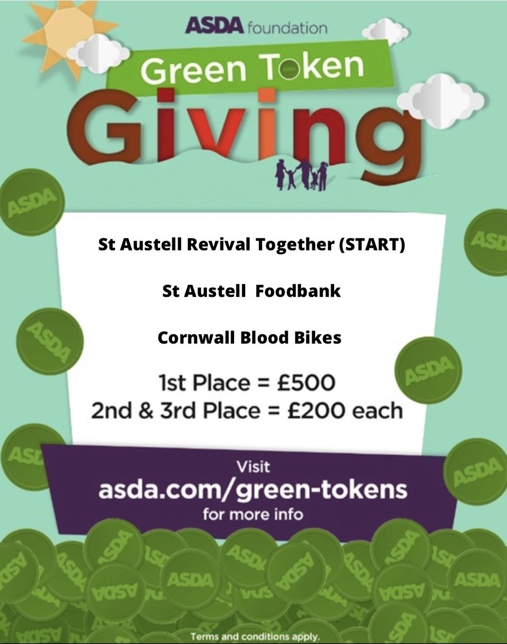 Green tokens are back | Asda St Austell