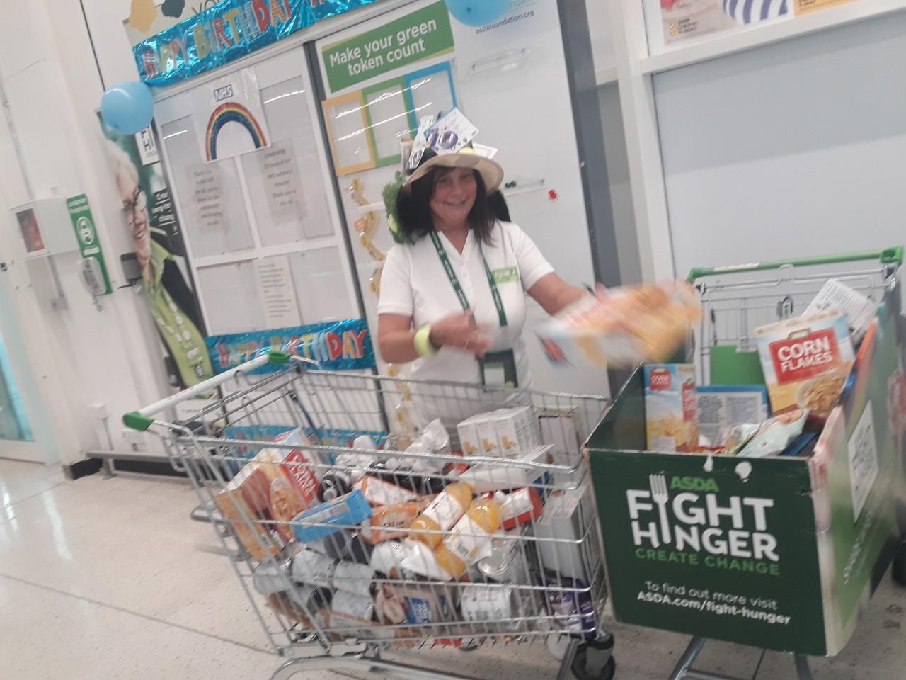 Donation to food bank | Asda Stockton