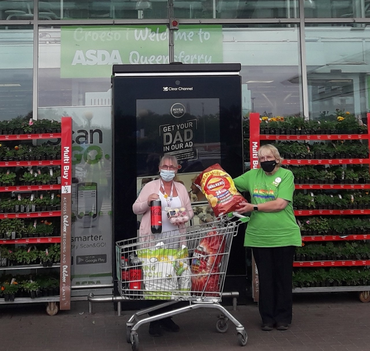 Donation to Phoenix House Care Home | Asda Queensferry