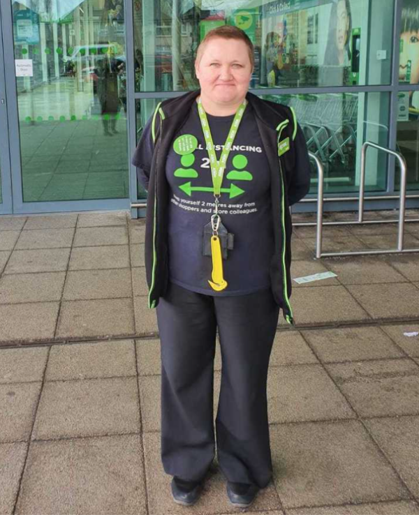 Gail Greaves from Asda Chaucer Road helped a homeless man find accommodation