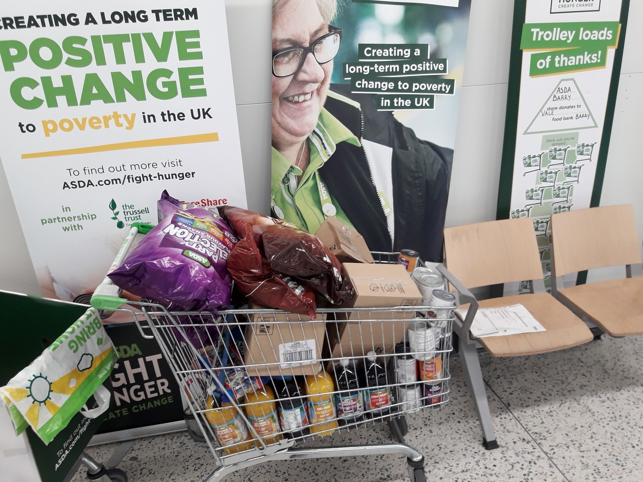 Store donation. | Asda Barry