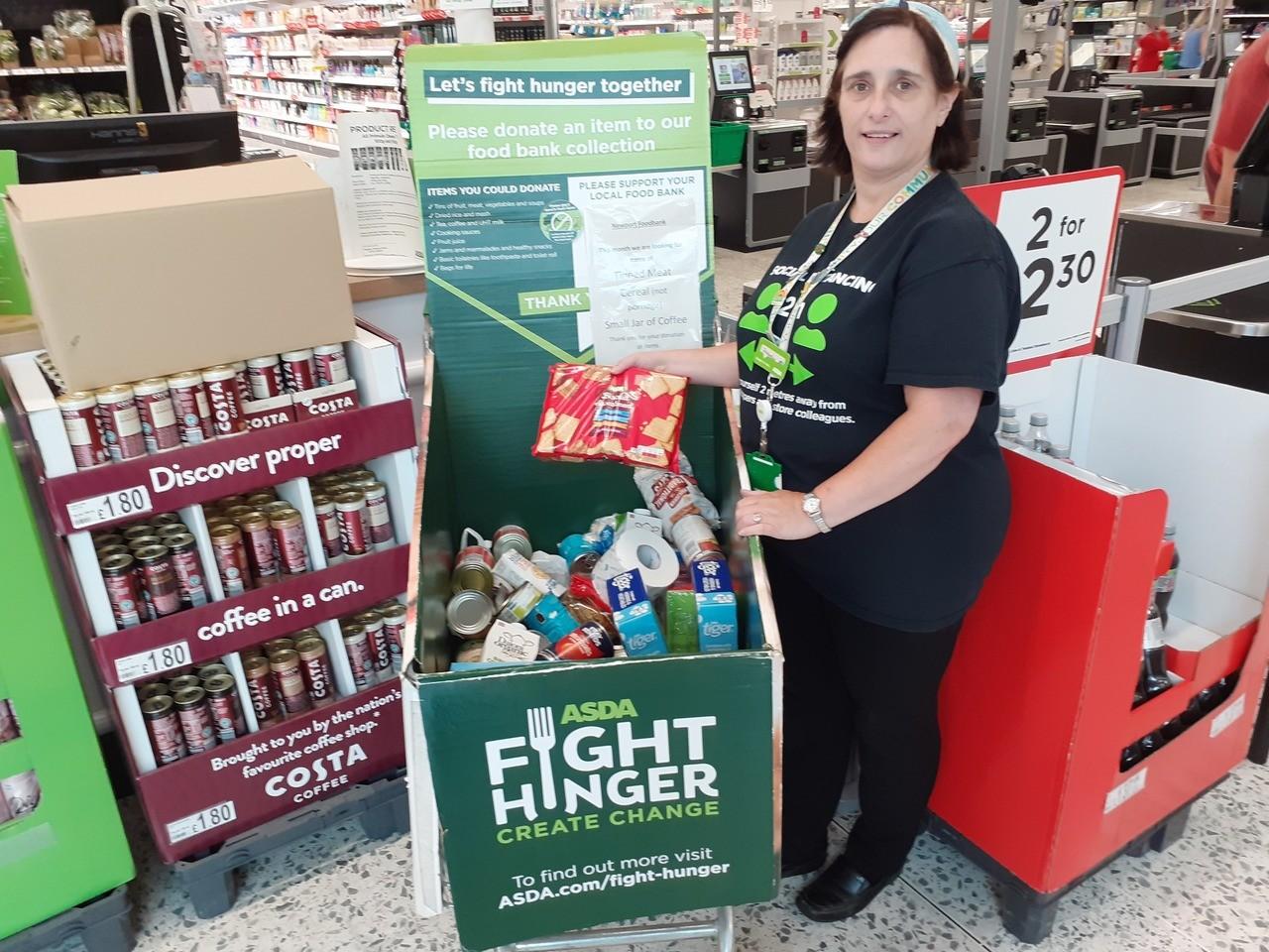 Generous support for foodbank | Asda Newport