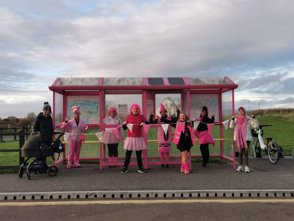 Asda Dunbar charity walk for Tickled Pink